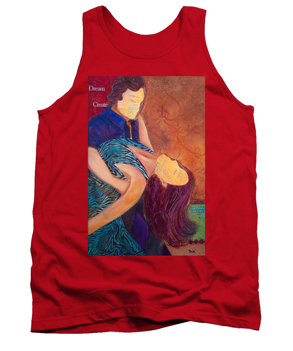 Man Tank Top featuring the painting Save The Last Dance by Debi Starr