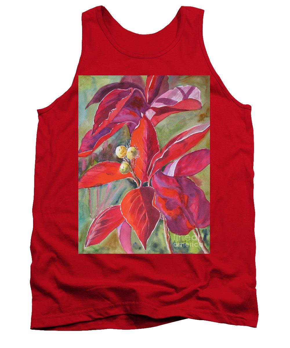 Abstract Tank Top featuring the painting Scarlet by Mohamed Hirji