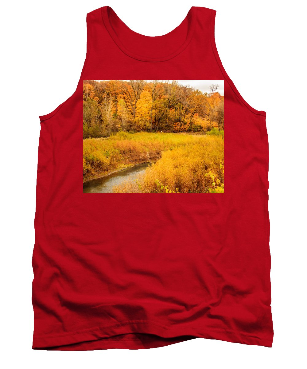 Autumn Tank Top featuring the photograph Scene Of Gold by Shari Brase-Smith