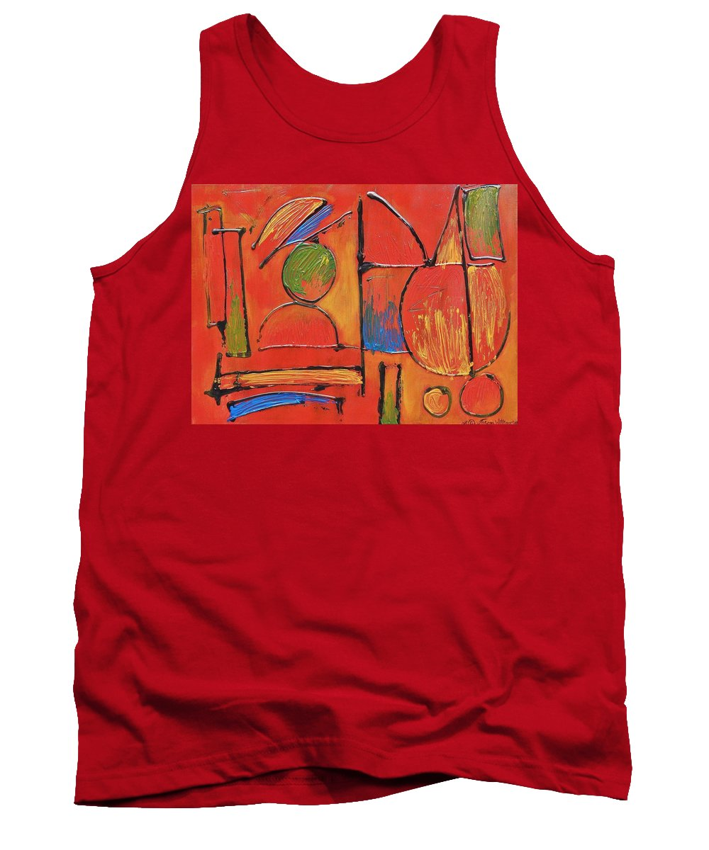 Abstract Tank Top featuring the painting Searching For My Soul by Jason Williamson