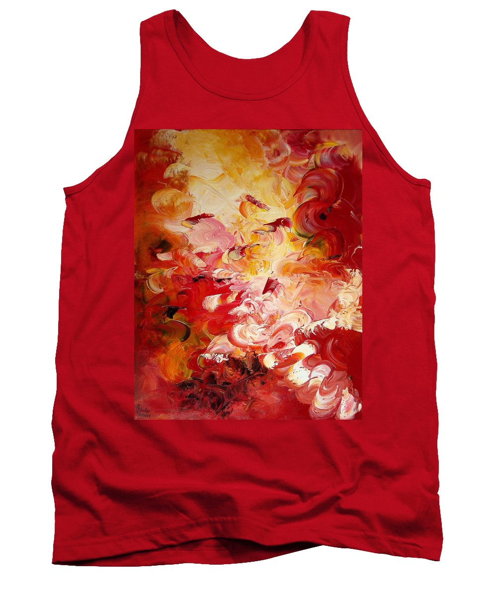 Abstract Tank Top featuring the painting Senteurs Exquises by Isabelle Vobmann