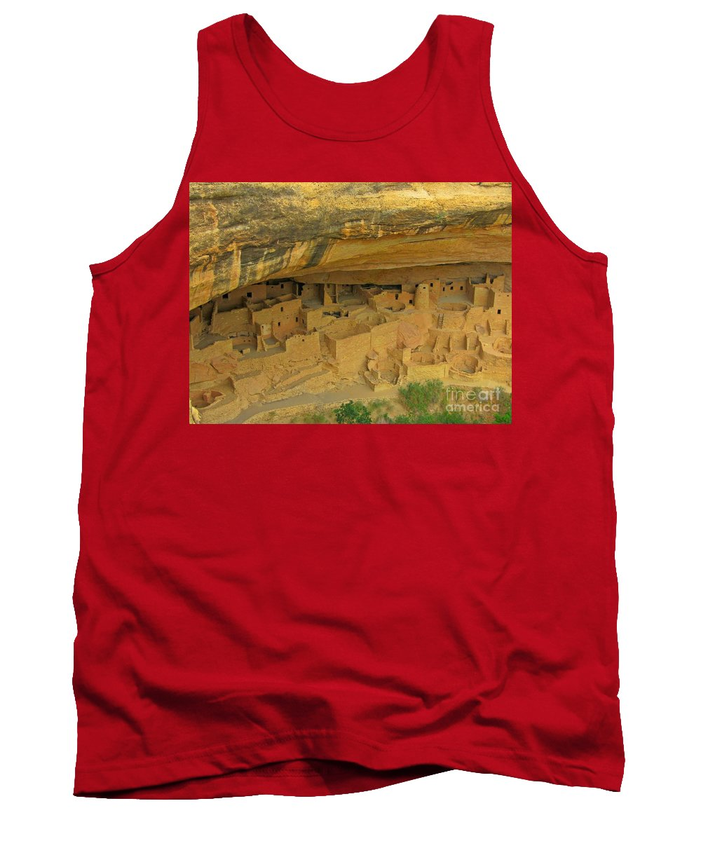 Shelter Under The Cliffs Tank Top featuring the photograph Shelter Under The Cliffs by John Malone