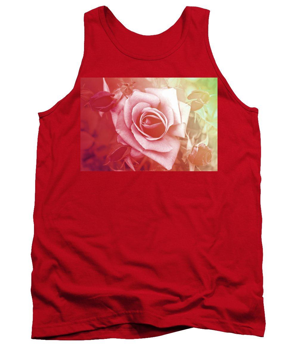 Rose Tank Top featuring the photograph Sisters by Alex Art and Photo