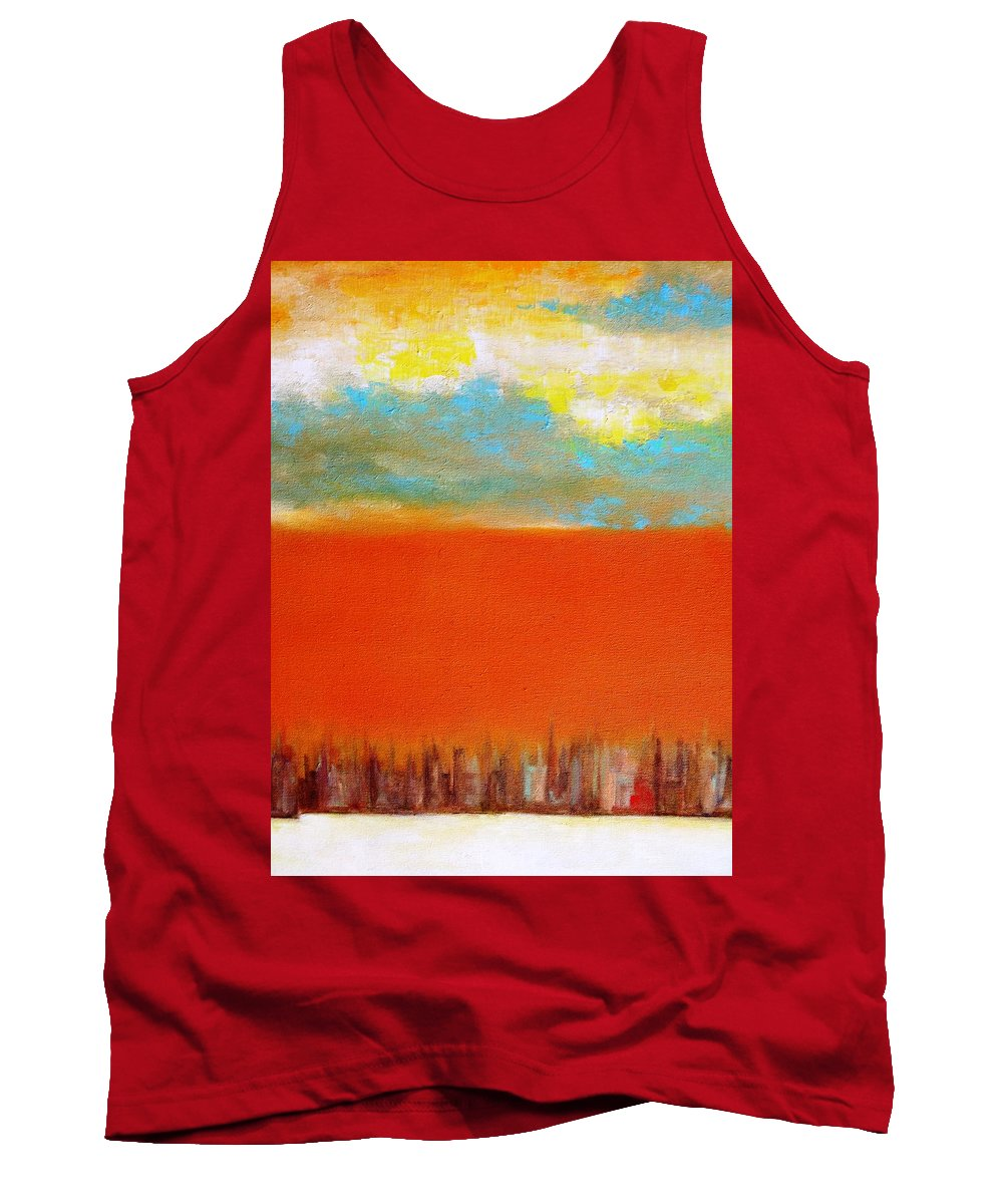 Paintings By Lyle Tank Top featuring the painting Sky Line by Lord Frederick Lyle Morris
