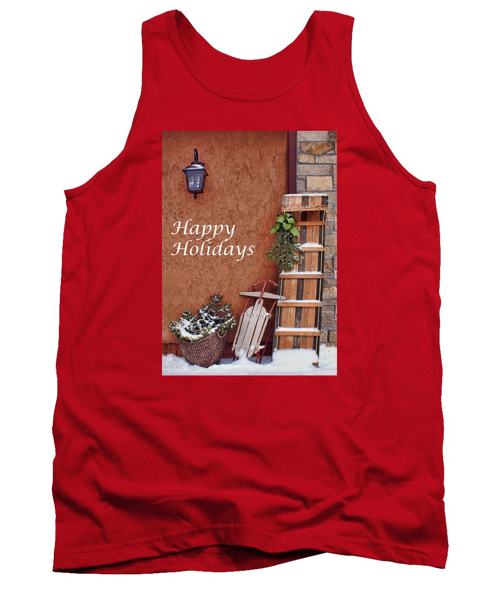 Sled Tank Top featuring the photograph Sled And Tobbogan by Nikolyn McDonald