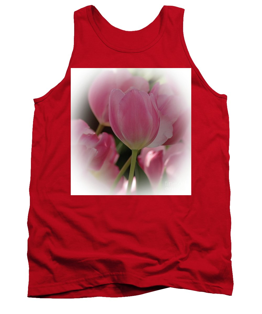 Tulip Tank Top featuring the photograph Soft Pink by Kathleen Struckle