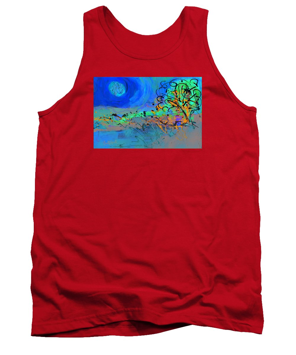 Landscape Tank Top featuring the painting Somewhere The Sun by Everett Spruill