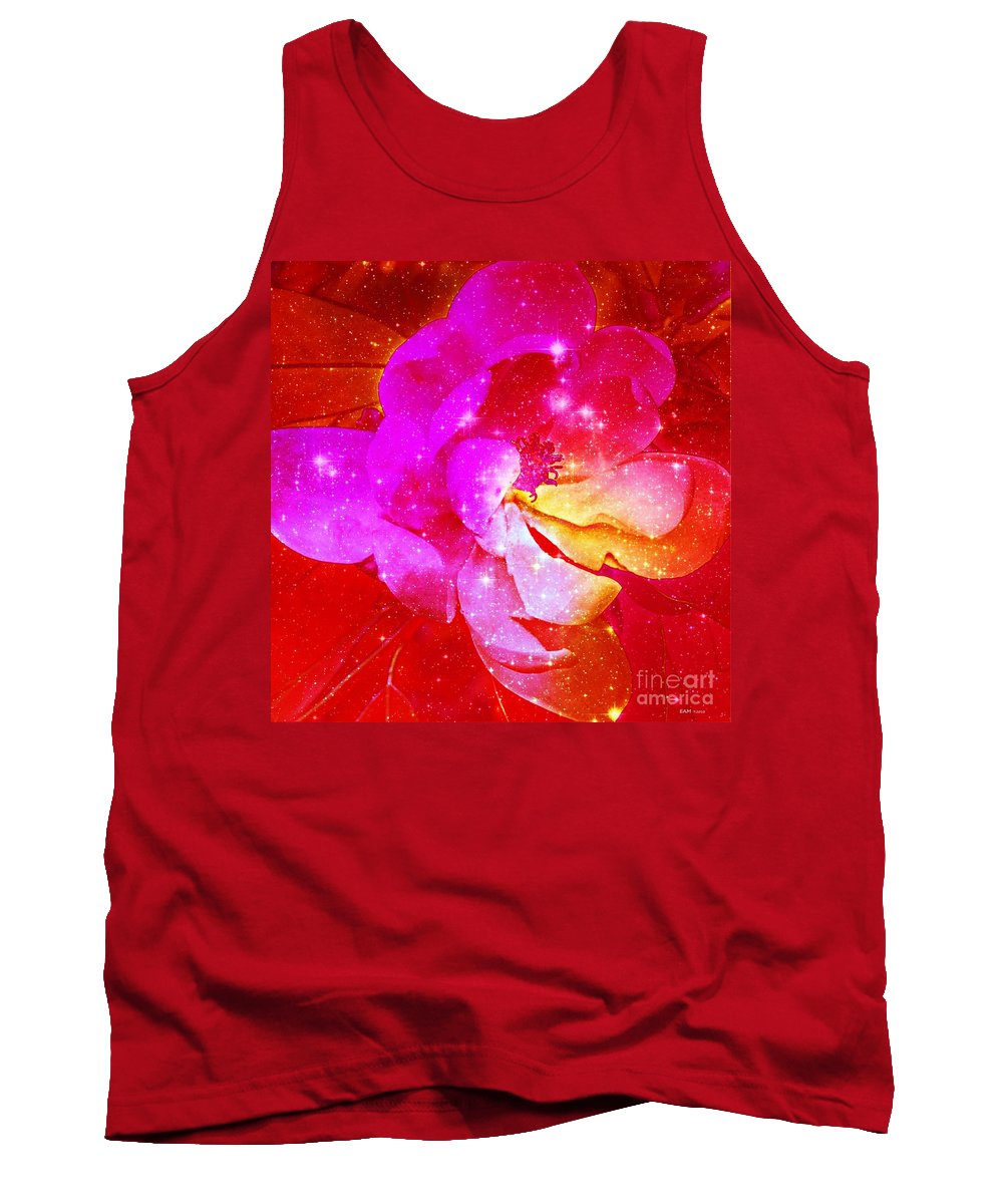 Hot Pink Magnolia Tank Top featuring the digital art Southern Belle / Hot Pink Magnolia by Elizabeth McTaggart