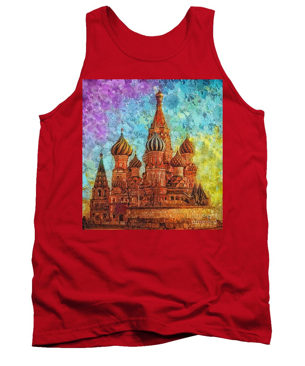 St Basil Tank Top featuring the painting St Basil by Mo T