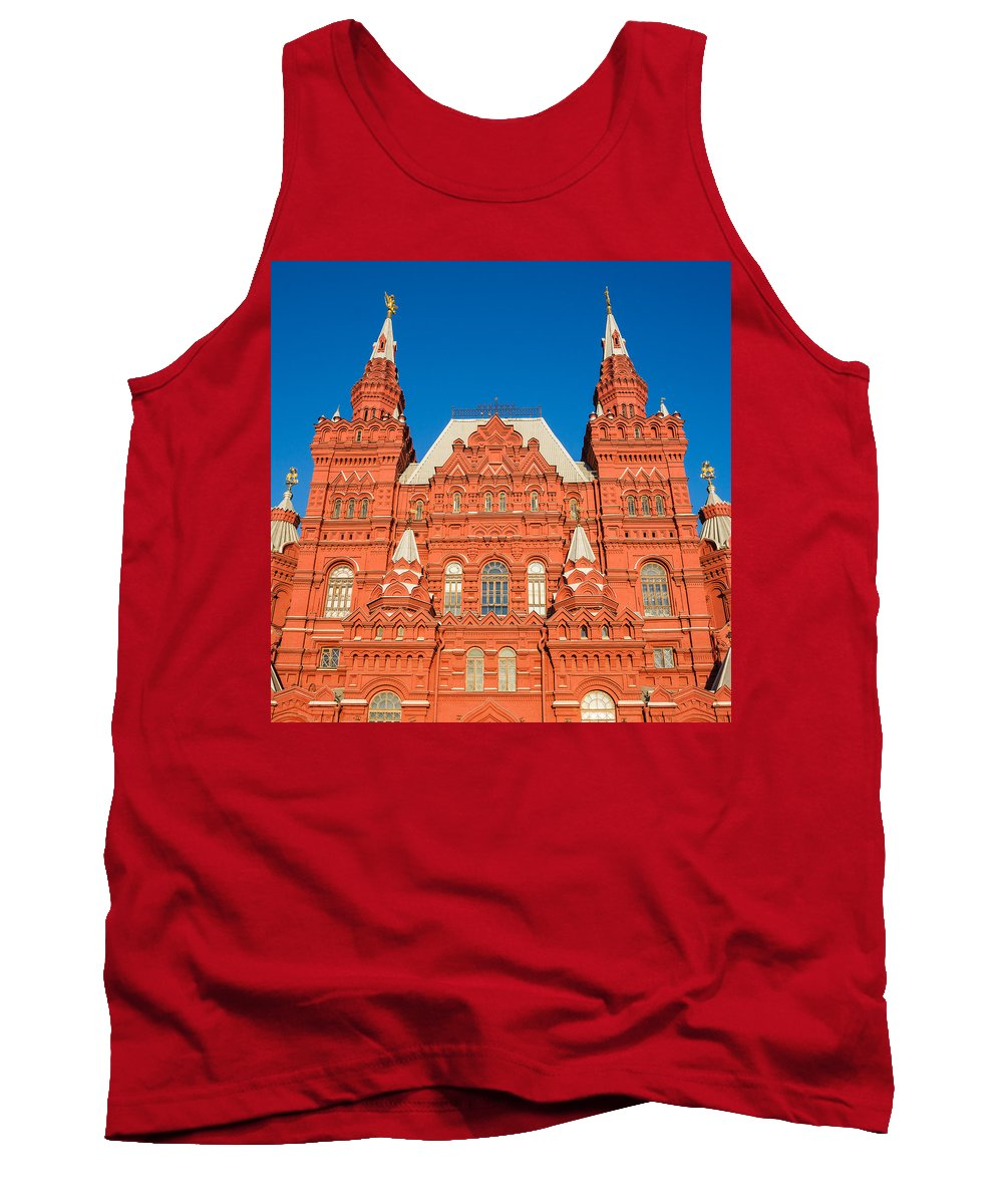 Architect Tank Top featuring the photograph State Museum Of Russian History - Square by Alexander Senin