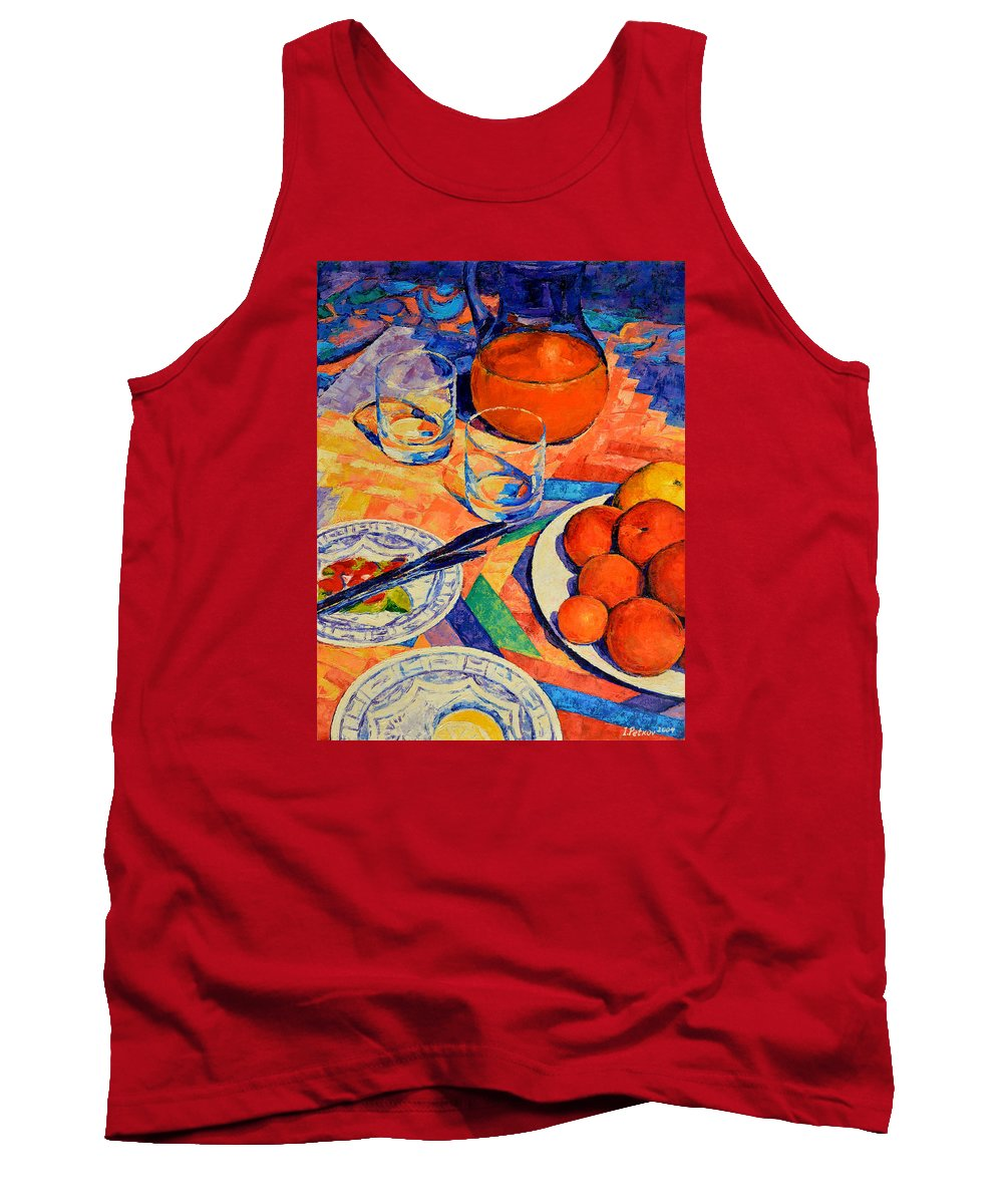Still Life Tank Top featuring the painting Still Life 1 by Iliyan Bozhanov