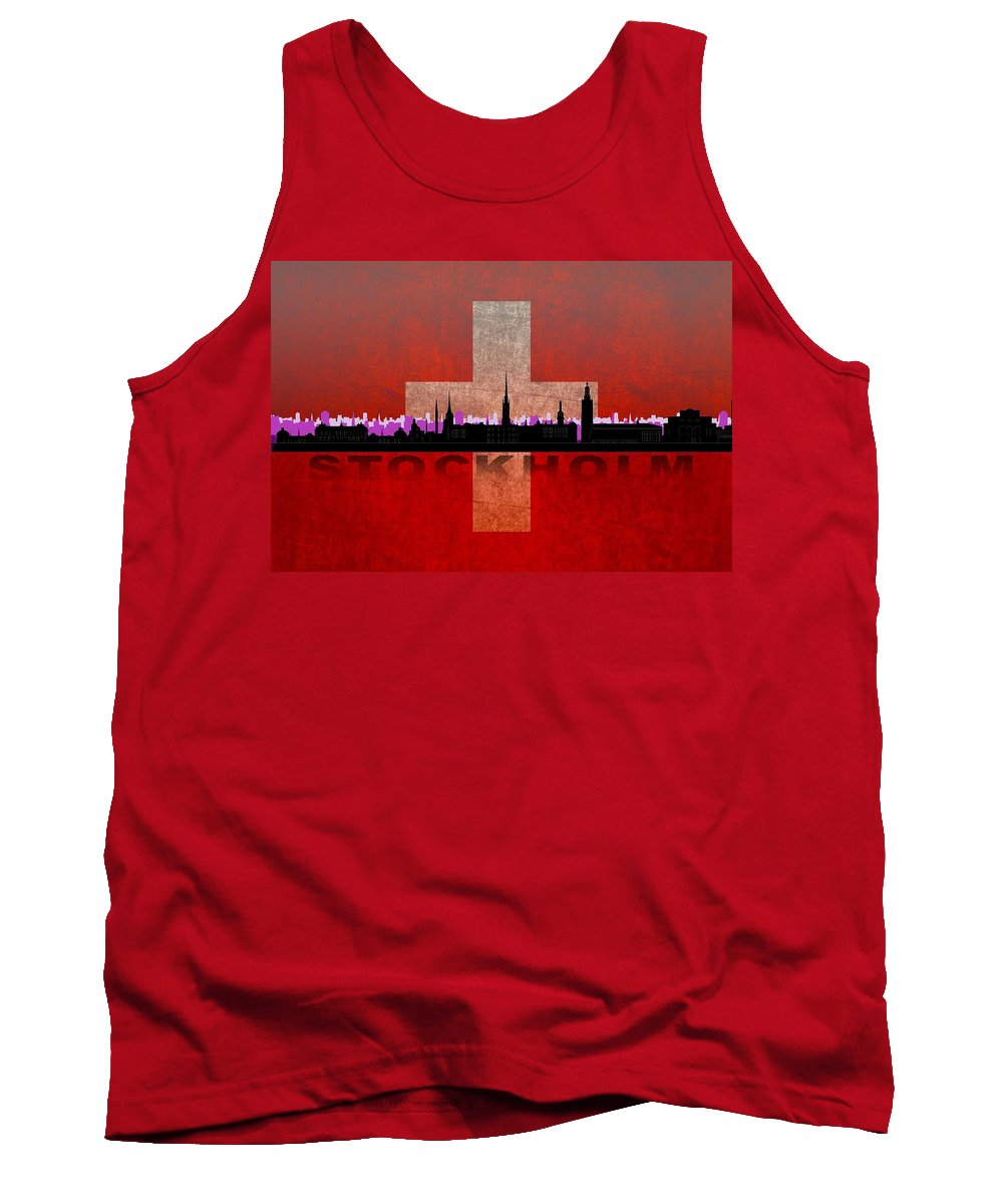 Architecture Tank Top featuring the digital art Stockholm City by Don Kuing