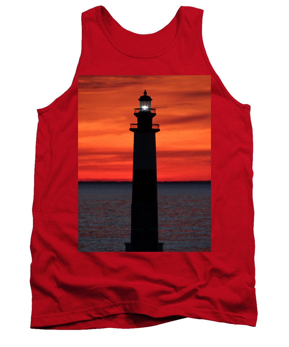 Lighthouse Tank Top featuring the photograph Summer Light by David T Wilkinson
