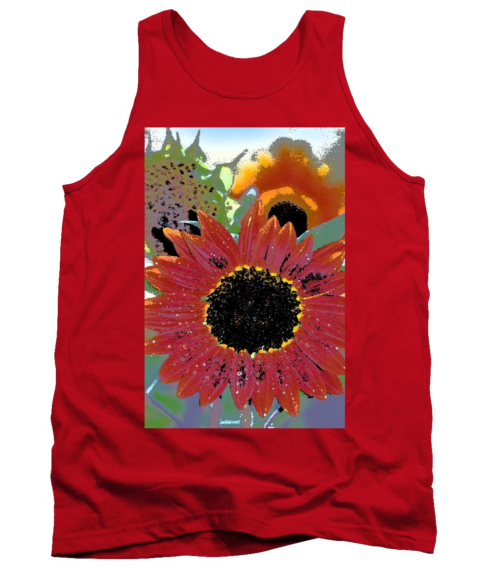 Floral Tank Top featuring the photograph Sunflower 31 by Pamela Cooper