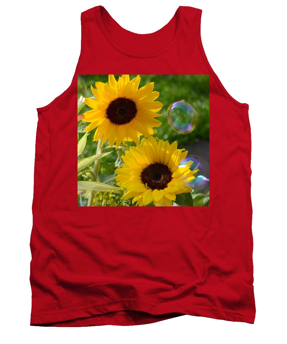 Sunflower Tank Top featuring the photograph Sunflowers by Russell Sherwood