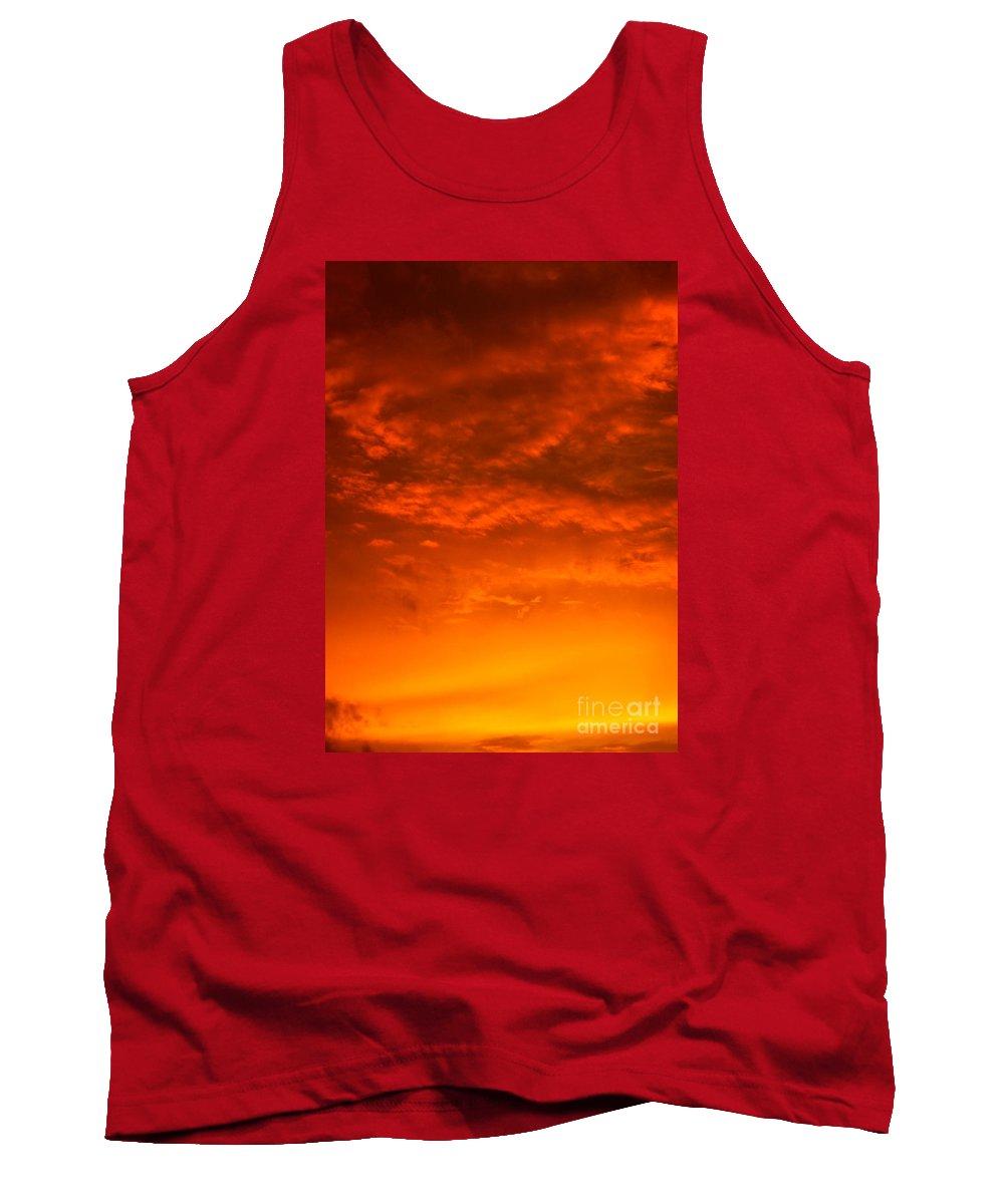 Appalachian Trail Tank Top featuring the photograph Orange Cloud Sunset by Glenn Gordon