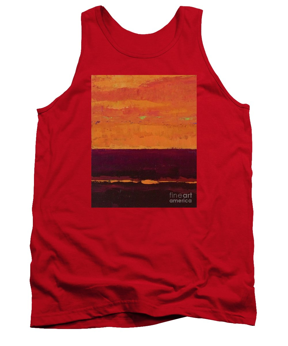 Landscapes Tank Top featuring the painting Sunset On The Pier by Gail Kent