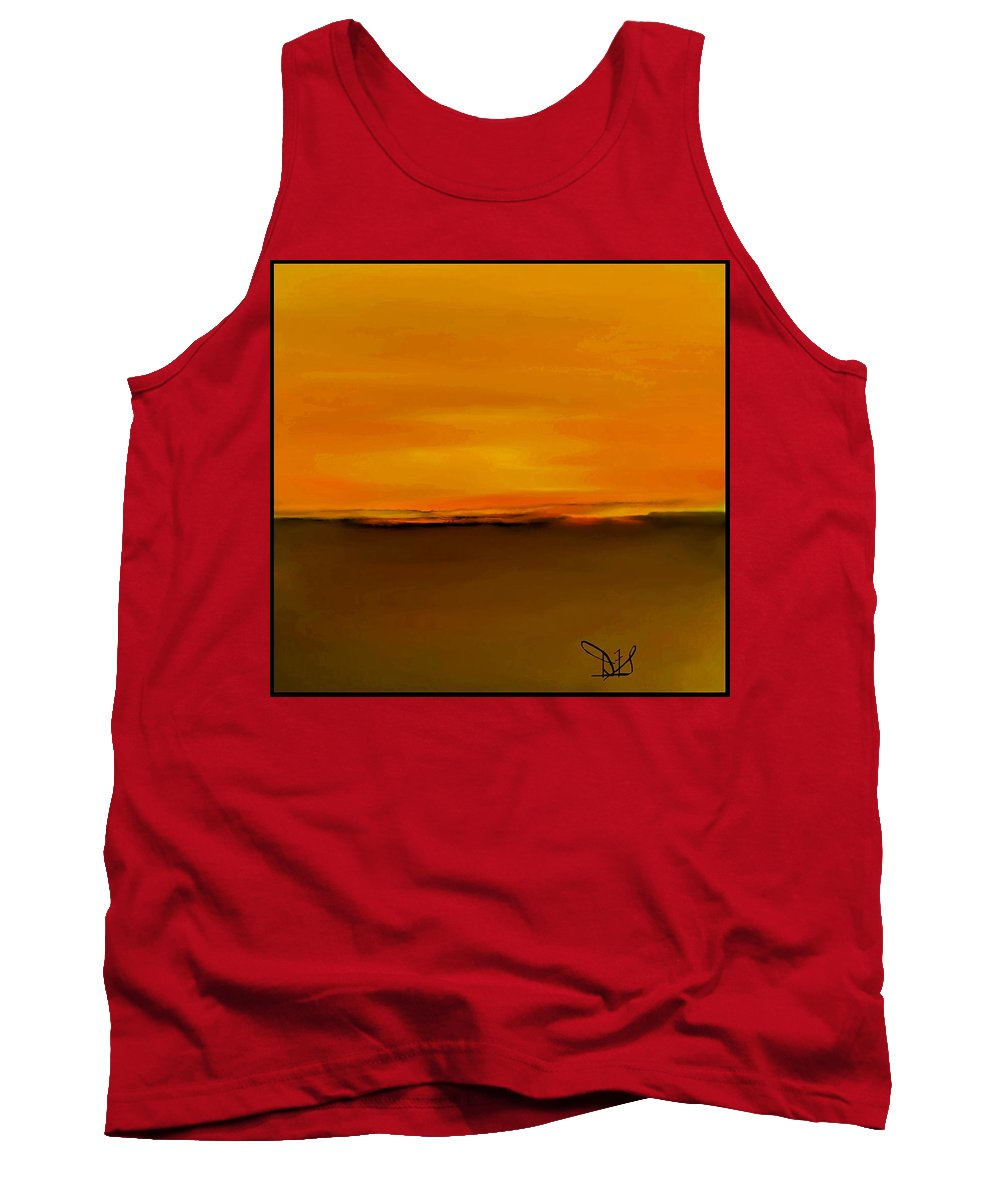 Fineartamerica.com Tank Top featuring the painting Sunset Over Landscape #9 by Diane Strain