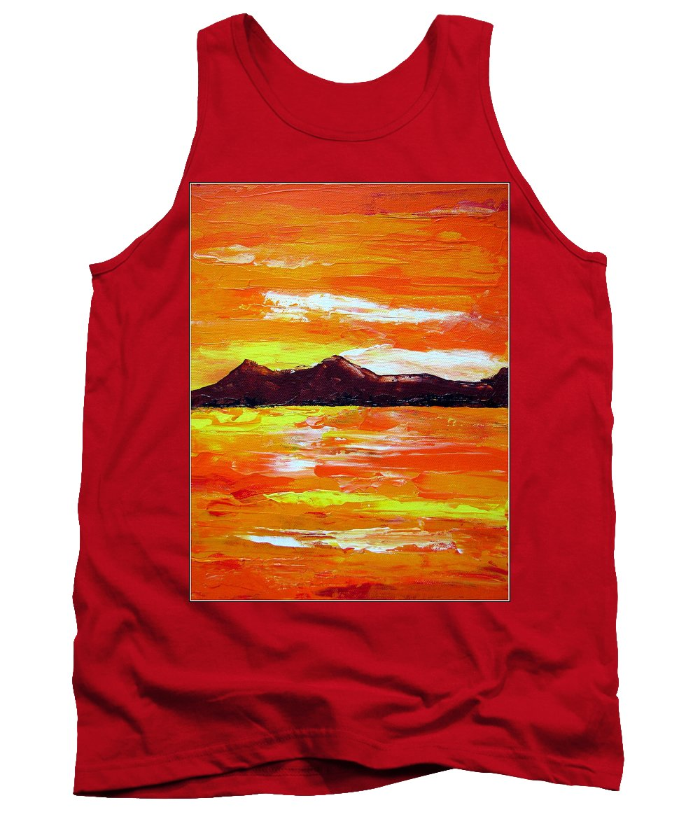 Sunset Tank Top featuring the painting Sunset by Prajakta P