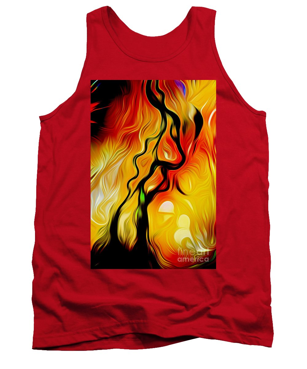 Alaska Tank Top featuring the digital art Susitna River Alaska by Phill Petrovic