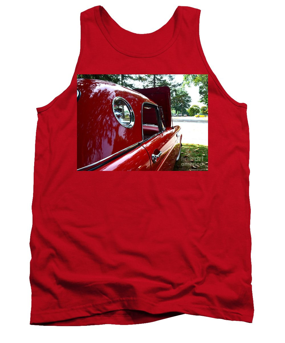 Quincy Illinois Tank Top featuring the photograph Vintage Car - Opera Window T-bird - Luther Fine Art by Luther Fine Art