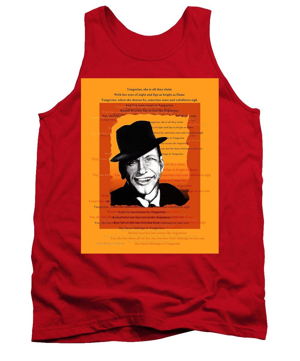 Frank Sinatra Tank Top featuring the digital art Tangerine Swing by Christopher Korte