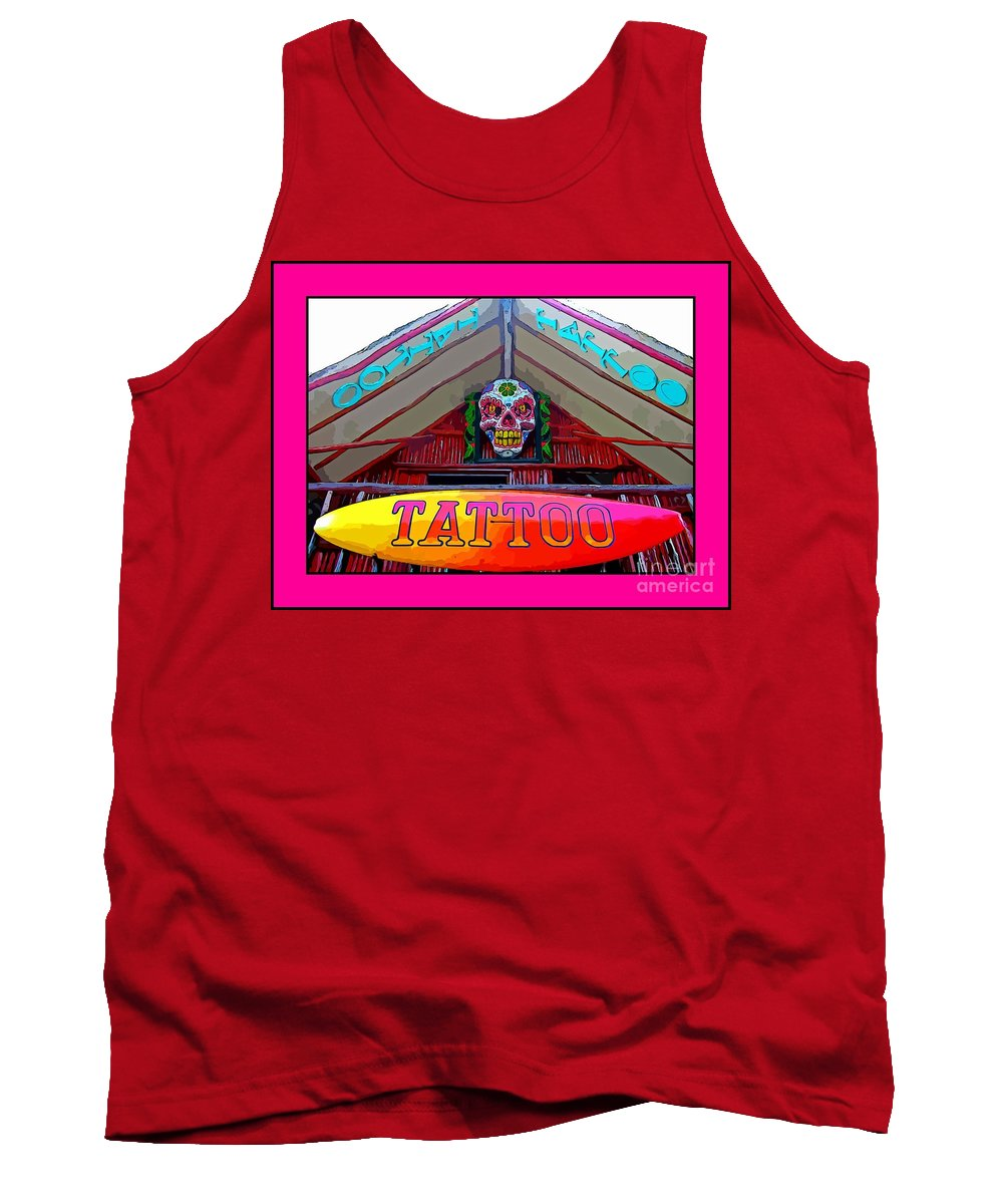 Tattoo Sign Digital Tank Top featuring the digital art Tattoo Sign Digital by John Malone