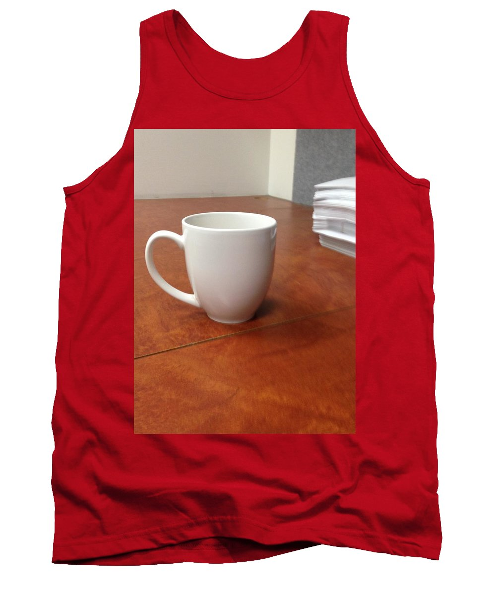Tea Tank Top featuring the pyrography Tea Time by Gary Lester