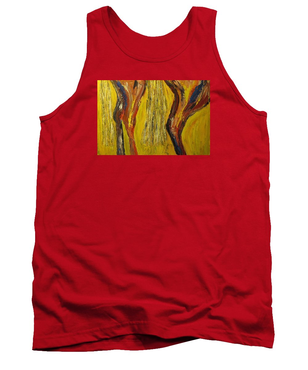 Southwestern Tank Top featuring the painting Tempest - Zanti Xviiii by Dave Brown