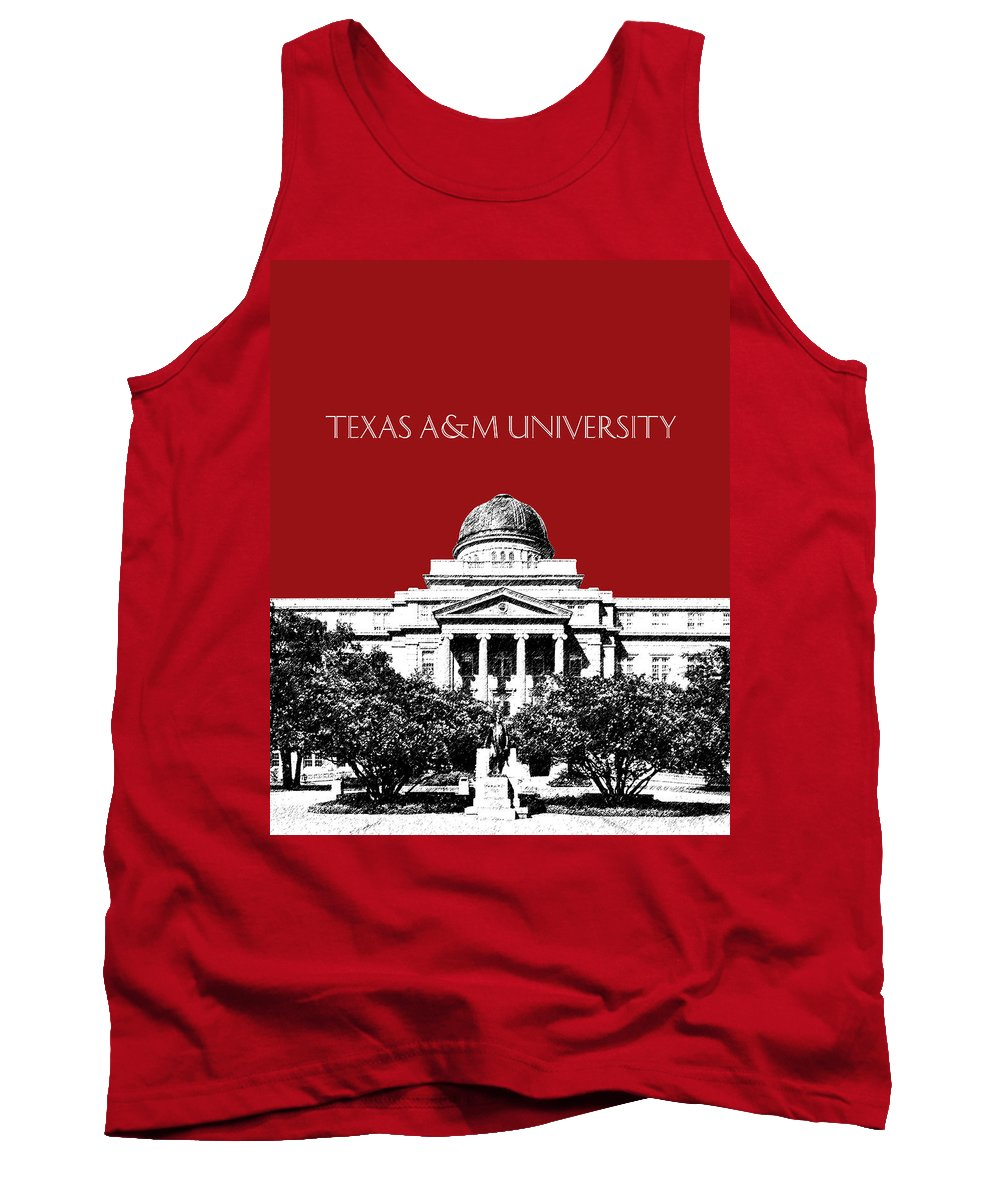 University Tank Top featuring the digital art Texas A And M University - Dark Red by DB Artist