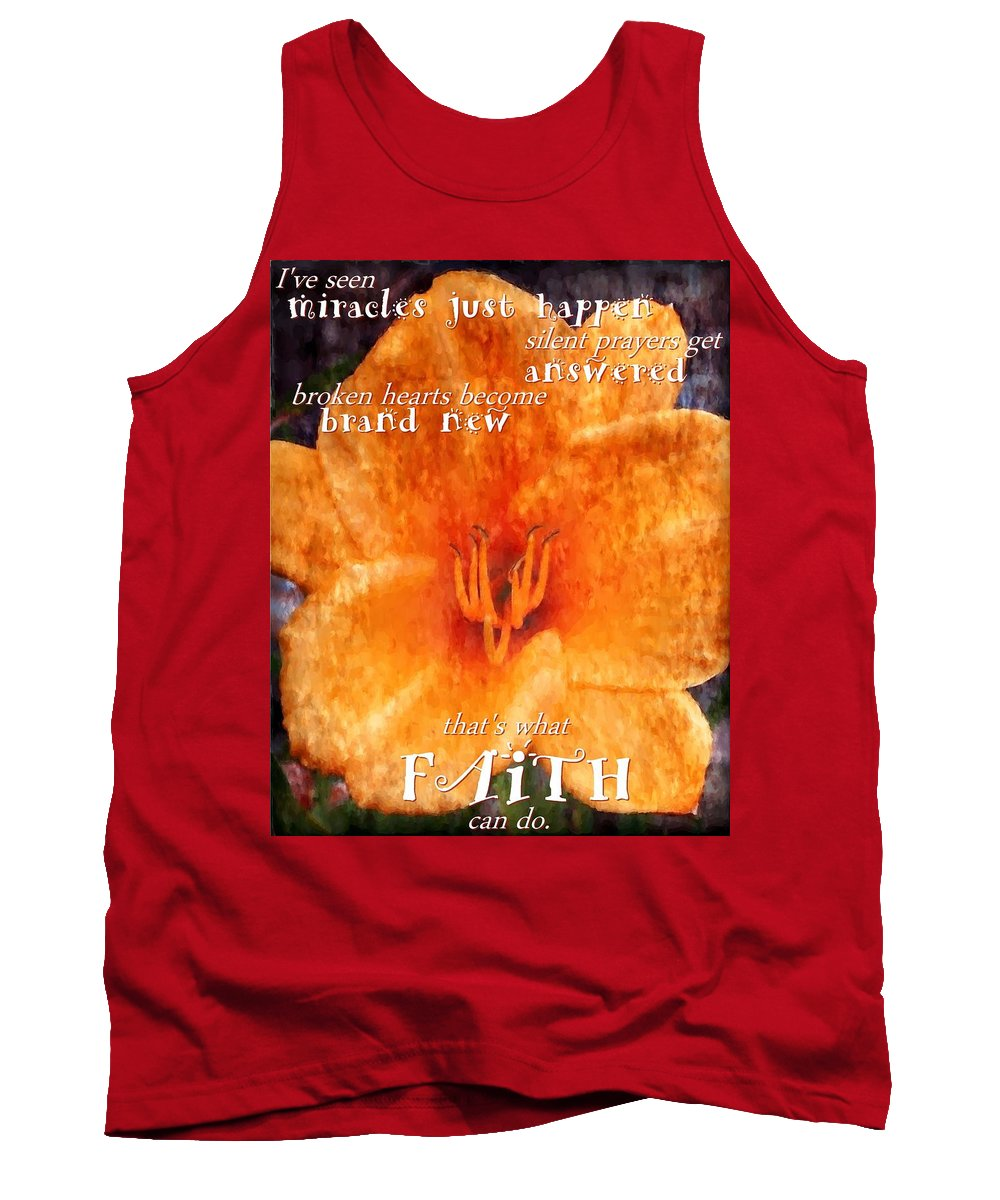 Jesus Tank Top featuring the digital art Thats What Faith Can Do by Michelle Greene Wheeler