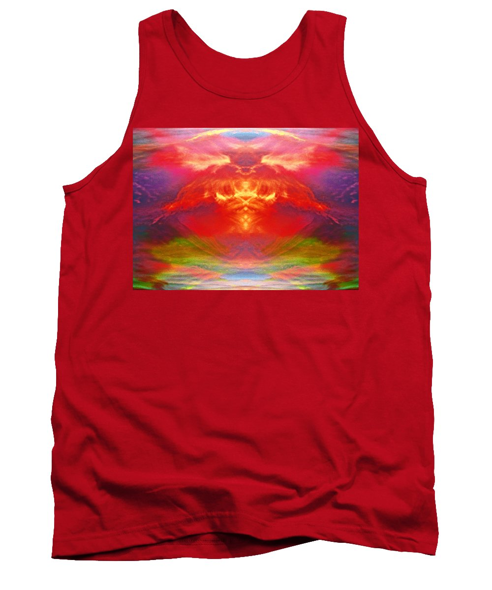 Gods Tank Top featuring the digital art The Apparition by Steve Taylor