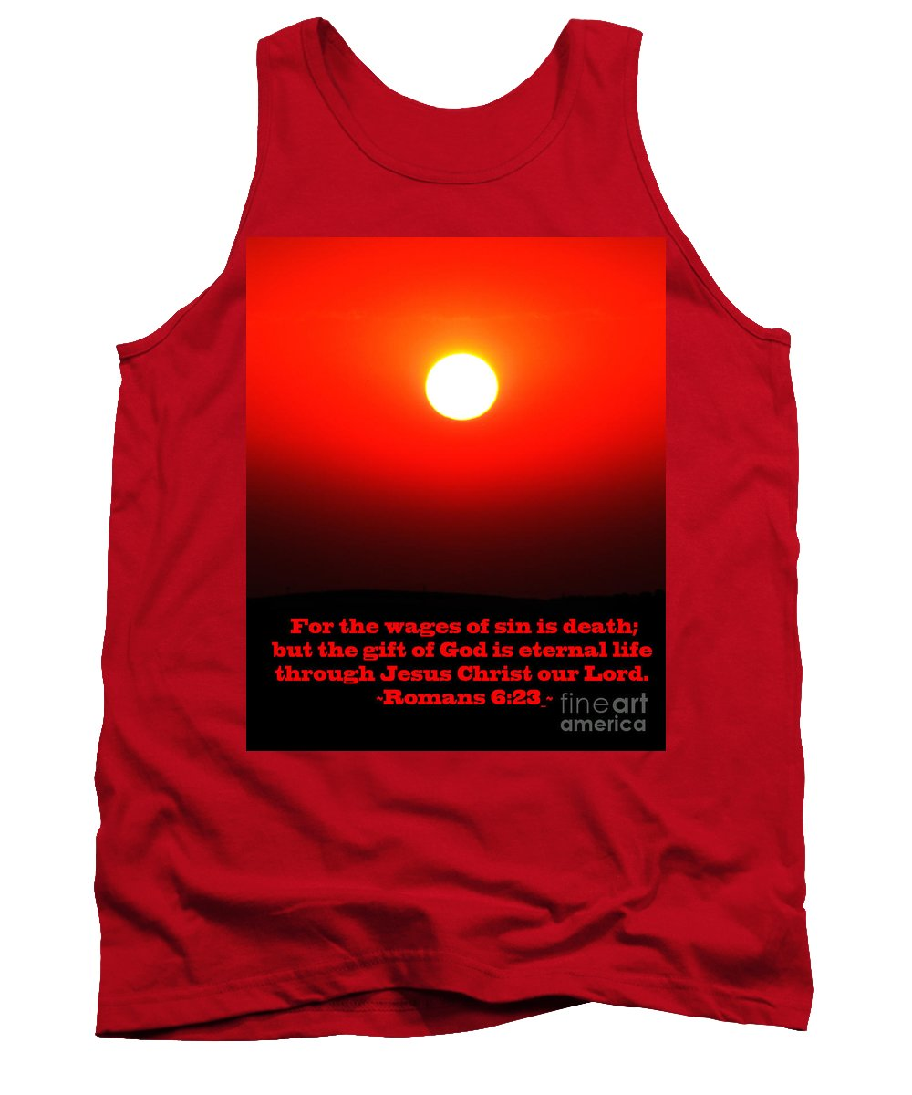 Jesus Christ Tank Top featuring the photograph The Bible Romans 6 by Ron Tackett