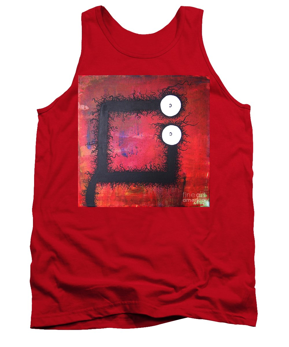 Brandon Tank Top featuring the painting The Creatures From The Drain 22 by Brandon Lynch