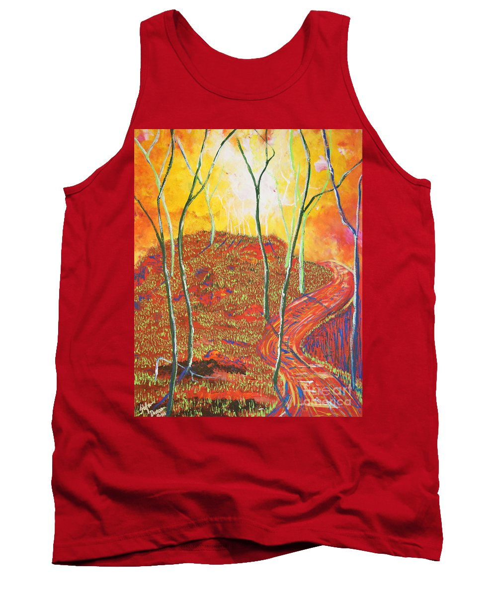 Illuminism Tank Top featuring the painting The Light That Calls Me by Stefan Duncan