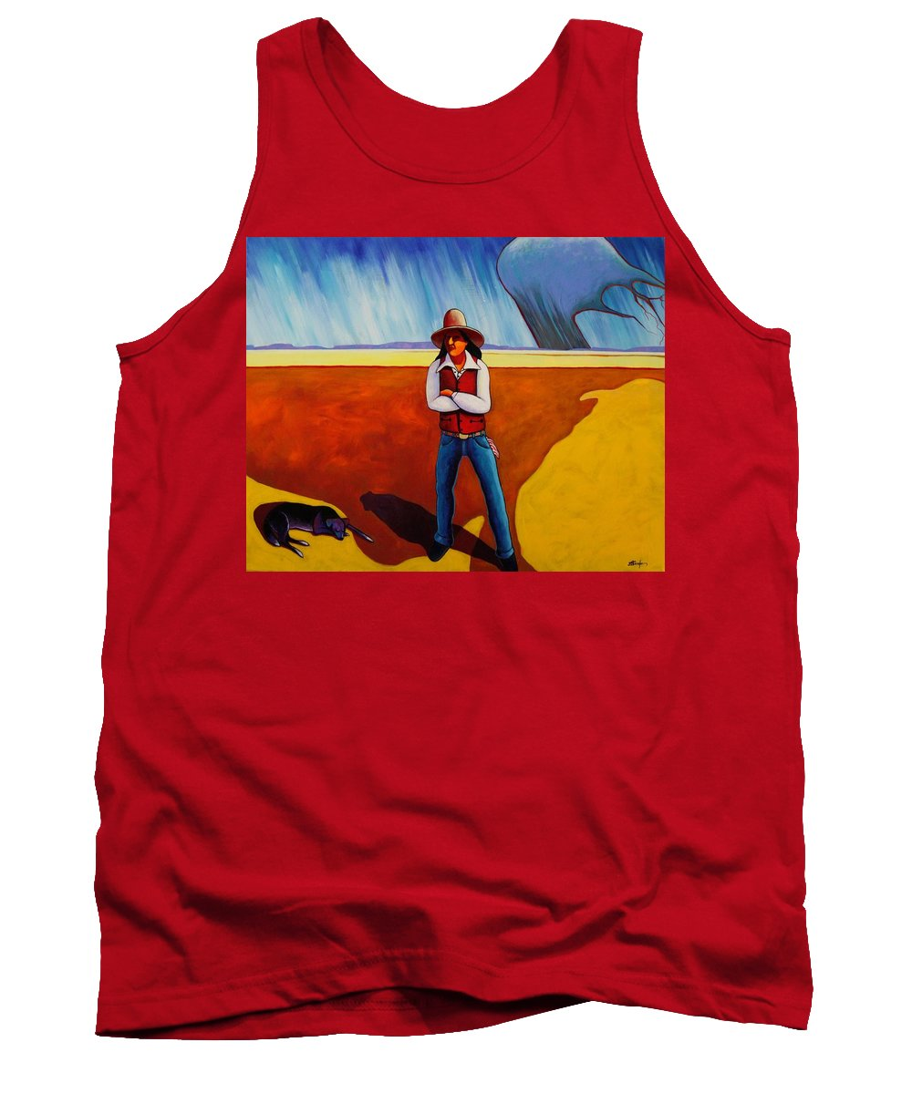 Native American Tank Top featuring the painting The Logic Of Solitude by Joe Triano