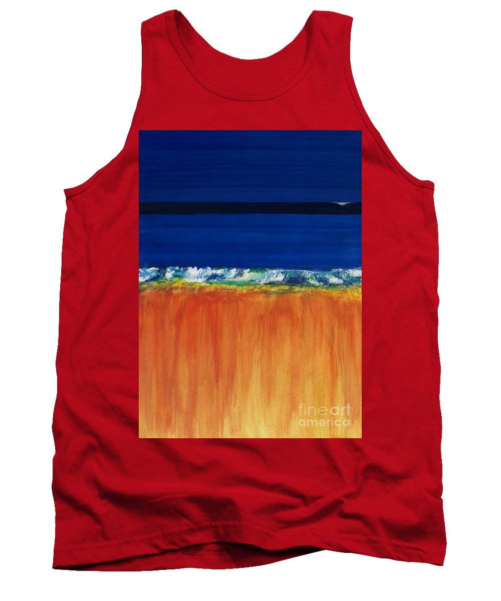 Oceans Tank Top featuring the painting The Next Big Wave by Frances Marino