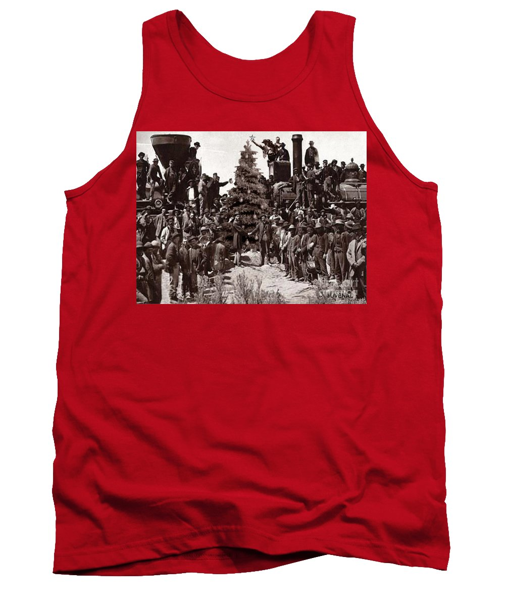 Canvas Prints Tank Top featuring the digital art The Placing Of The Golden Star by Joseph Juvenal
