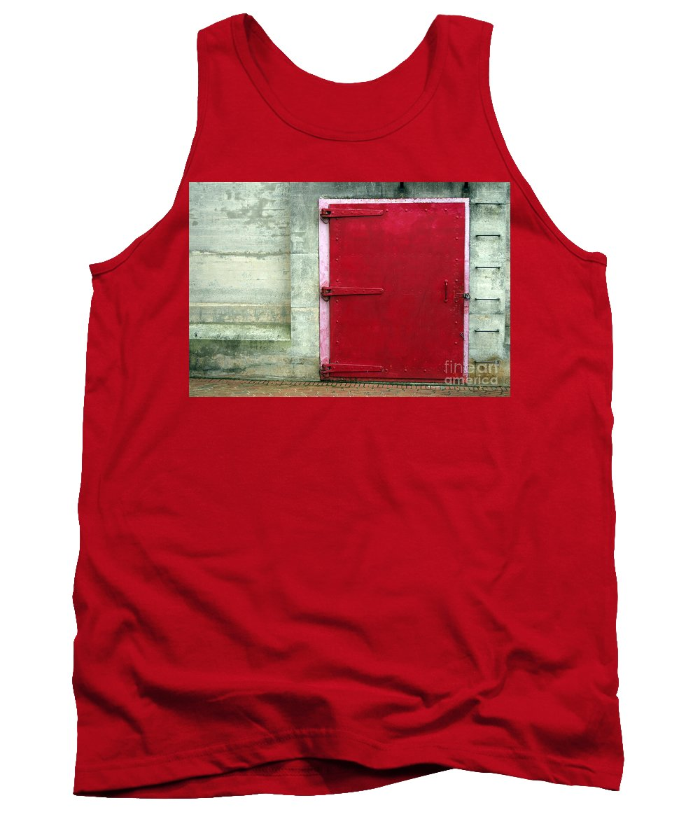 Scenic Tours Tank Top featuring the photograph The Red Door by Skip Willits
