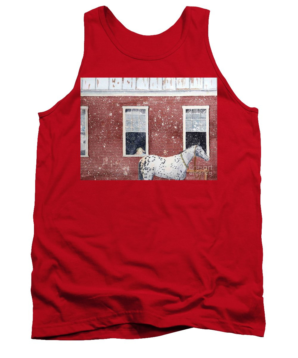 Horses Tank Top featuring the painting The Ride Home by LeAnne Sowa