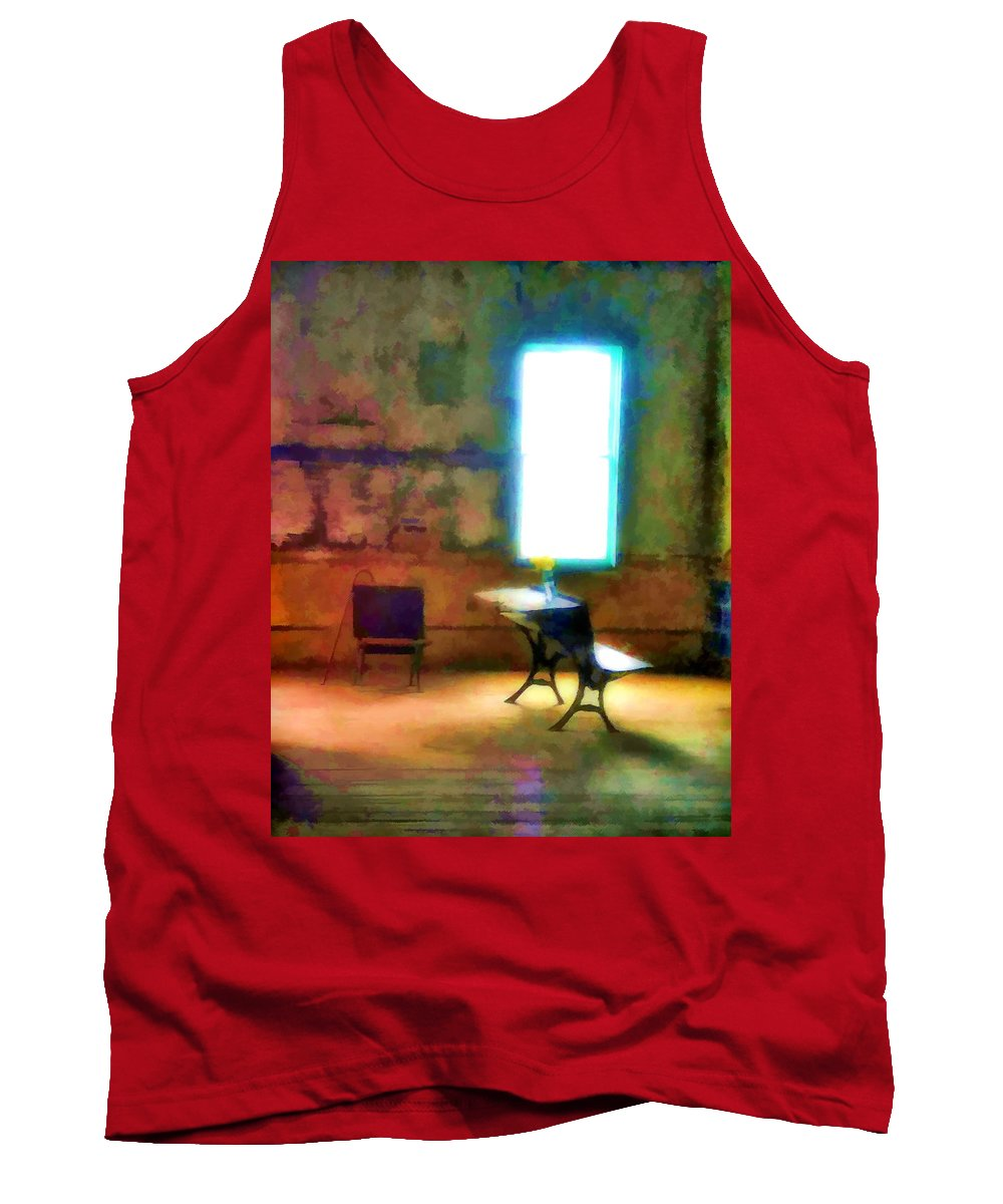 One Tank Top featuring the painting The Schoolhouse by John Feiser