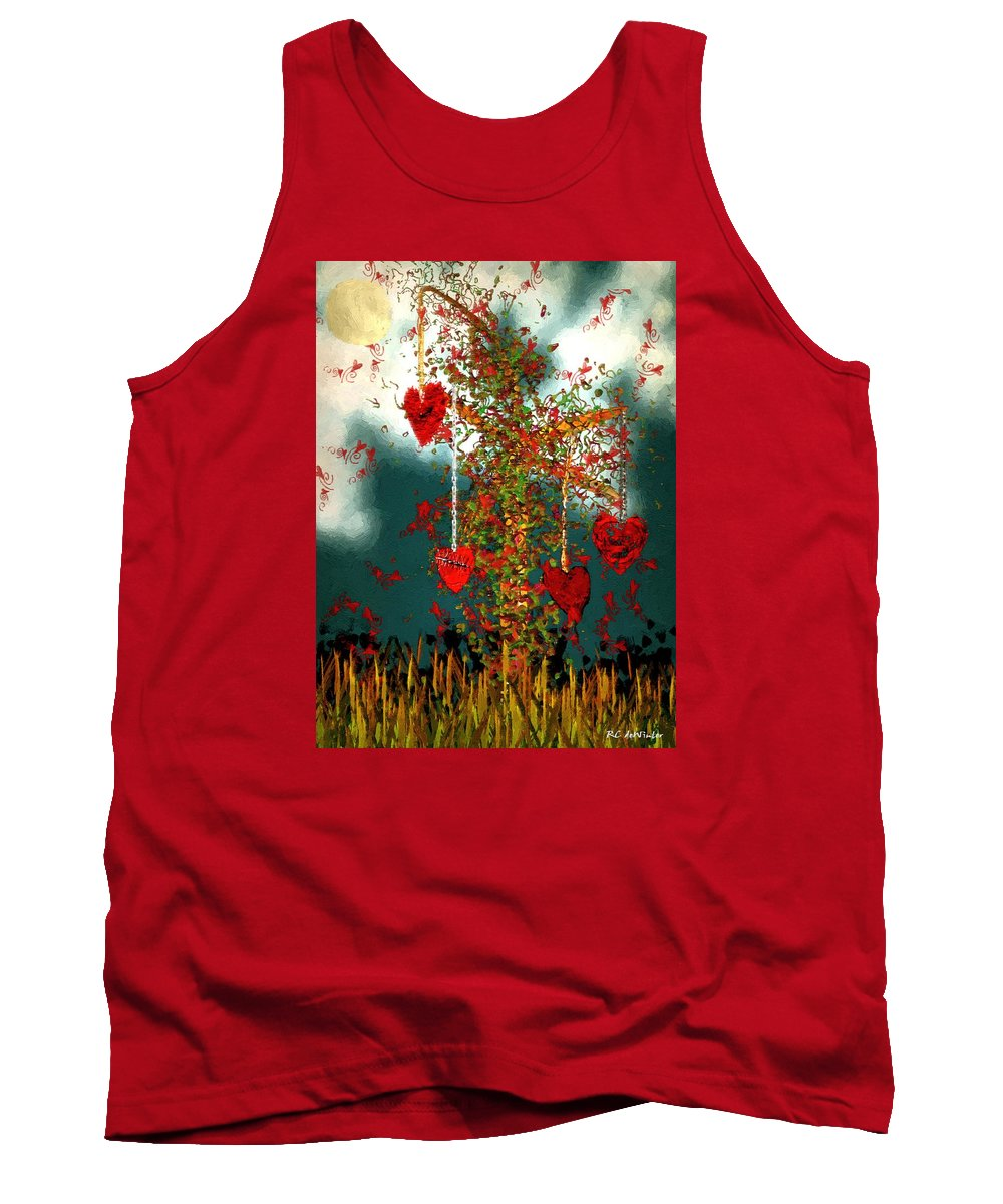 Hearts Tank Top featuring the painting The Tree Of Hearts by RC DeWinter