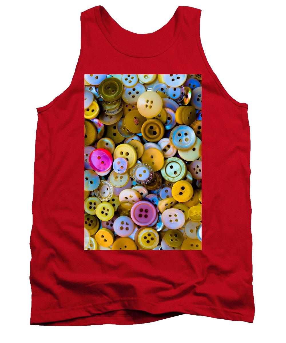 Needle Tank Top featuring the photograph Thimble And Needle by Edgar Laureano