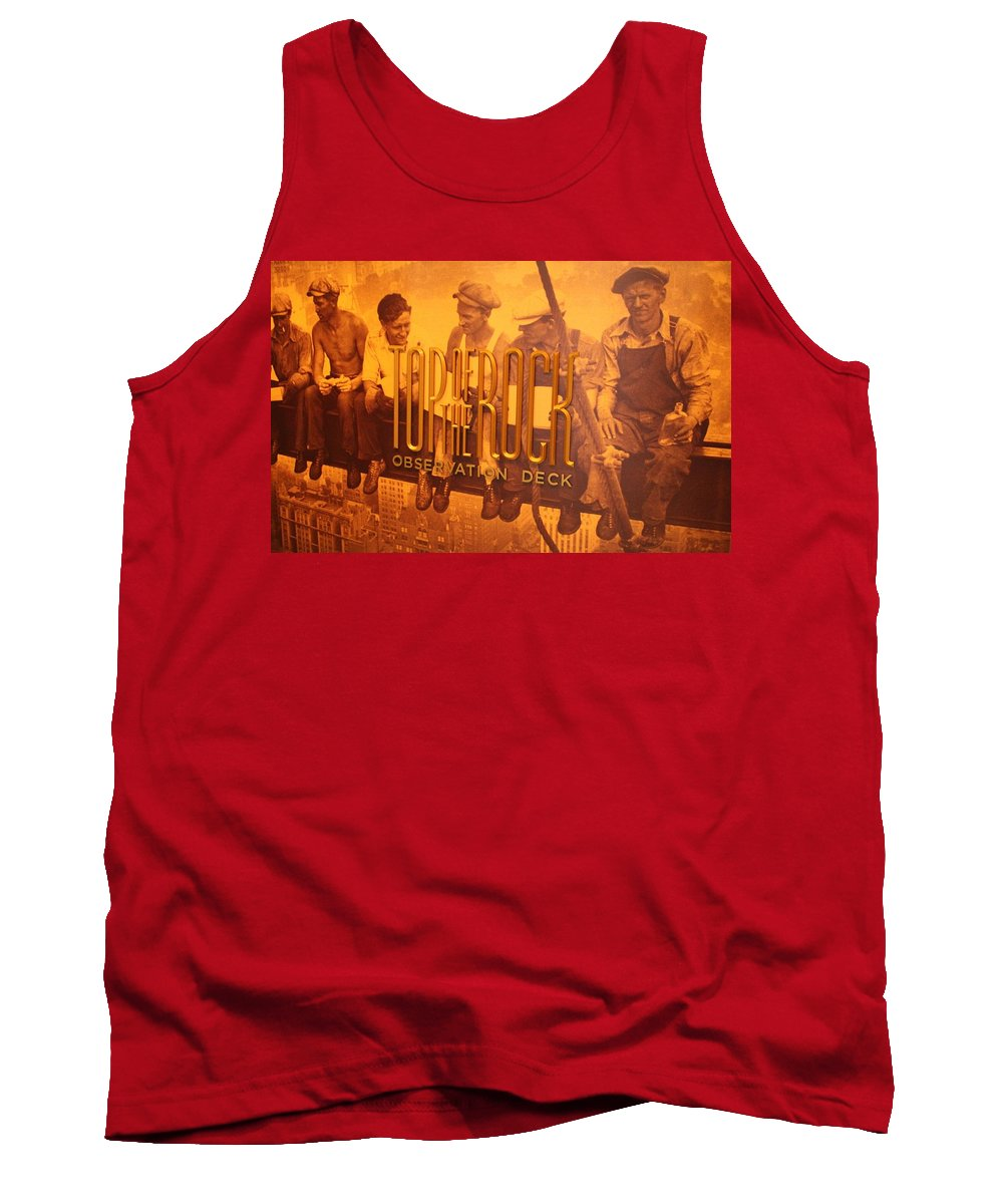 Top Of The Rock Observation Deck Tank Top featuring the photograph Top Of The Rock Observation Deck by Dan Sproul