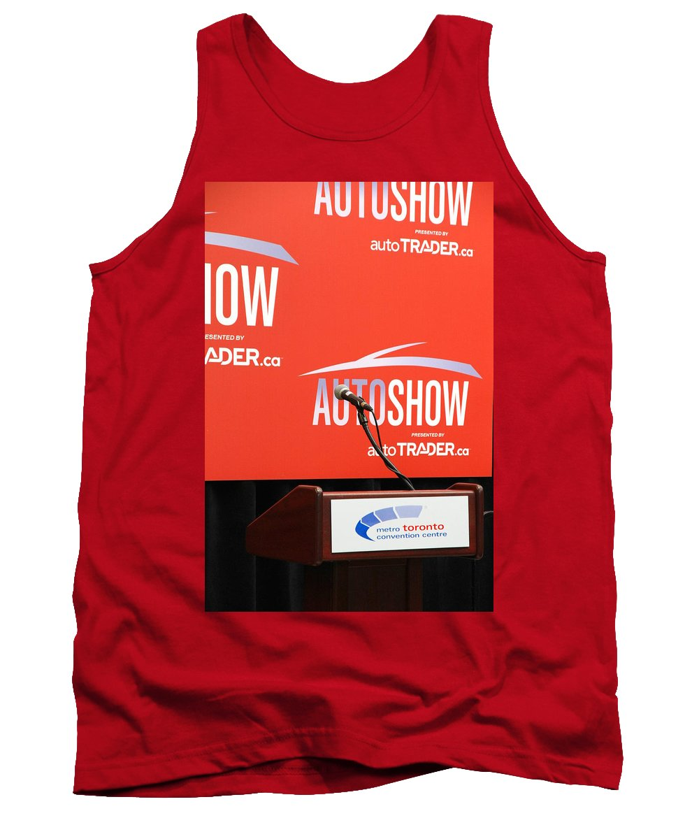 Press Tank Top featuring the photograph Toronto Autoshow by Valentino Visentini