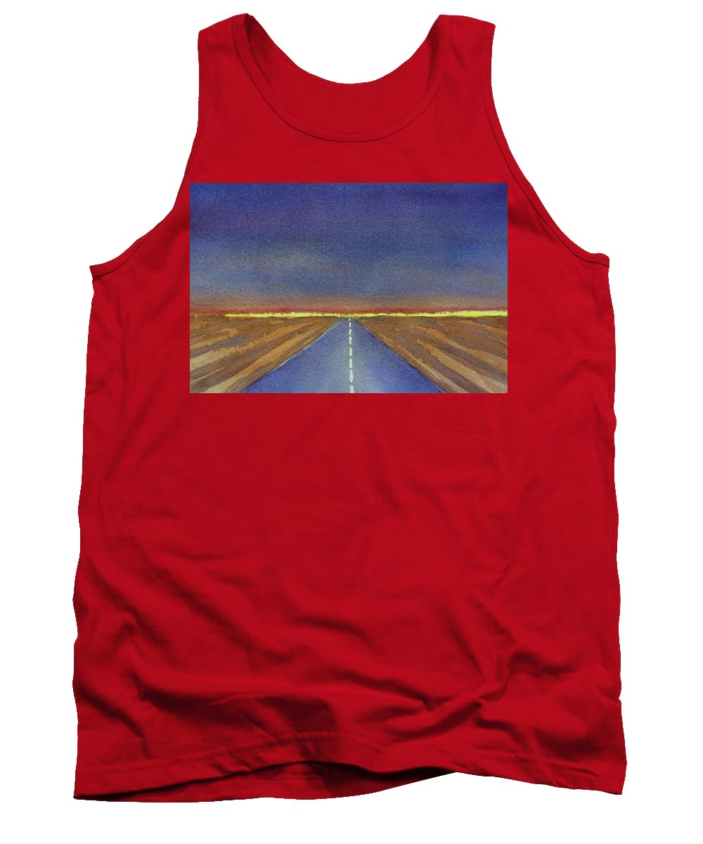 Watercolor Tank Top featuring the painting Traveling by Susan Porter