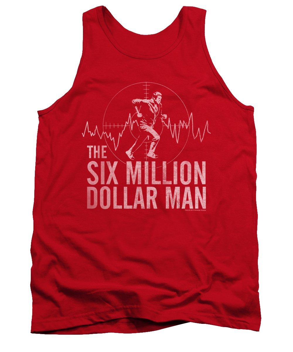 The Six Million Dollar Man Tank Top featuring the digital art Tsmdm - Target by Brand A