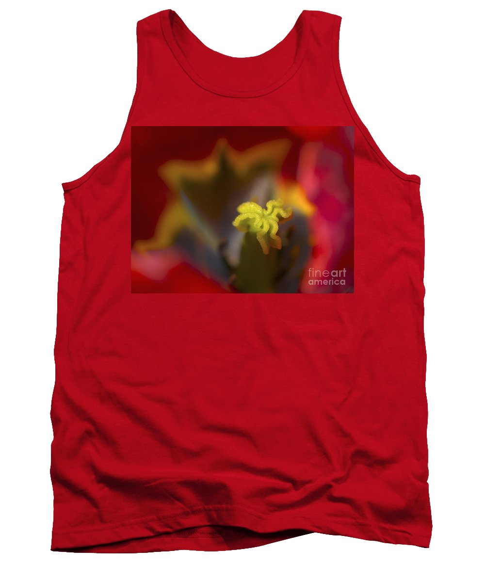 Tulip Tank Top featuring the photograph Tulip Center by Sharon Talson