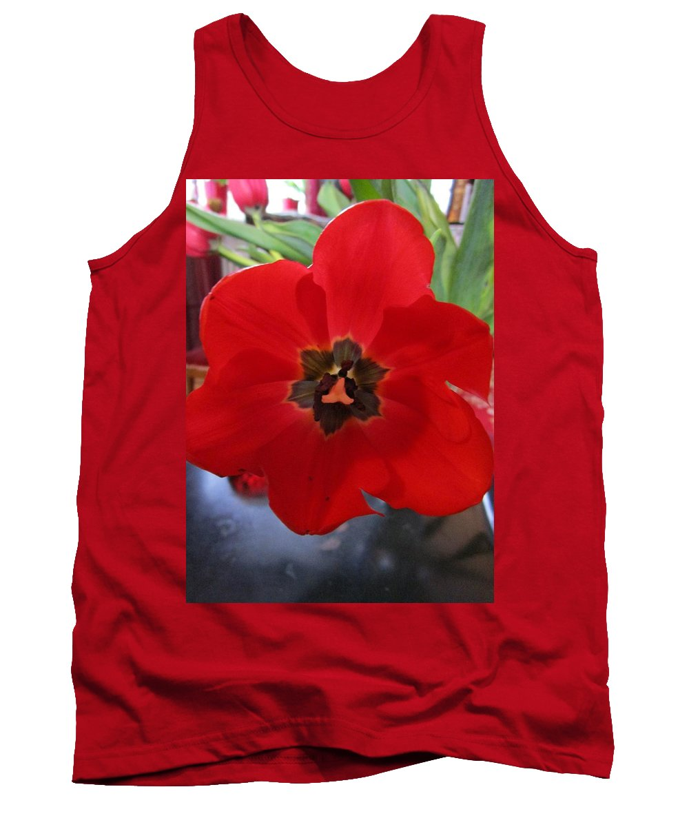 Flowers Tank Top featuring the photograph Tulip Mania 20 by Rosita Larsson