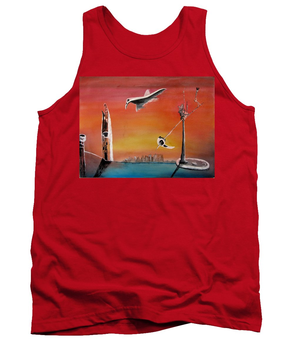 Uglydream Tank Top featuring the painting Uglydream911 by Helmut Rottler